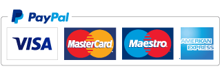 Payment Methods - PayPal - Visa - MasterCard - American Express