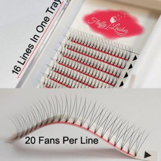 volume lashes rootless wide fans